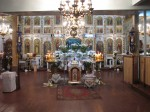 Старый клирос храма, ограждение хоров и солея