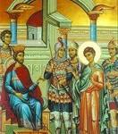 Вмч. Димитрий перед имп. Максимианом.