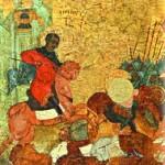Вмч. Димитрий повергает врагов Фессалоники.