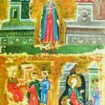 Сцены из Жития вмч. Димитрия: вмч. Димитрий, вмч. Димитрий перед имп. Маркианом, чудо со скорпионом.