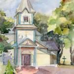 наш храм акварелью